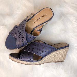 Lucky Brand Espadrilles - Navy Blue - Size 7